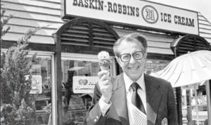 Irvine Robbins with ice cream 2